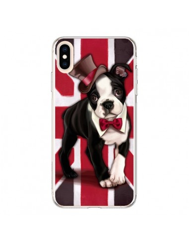 Coque iPhone XS Max Chien Dog Anglais UK British Gentleman - Maryline Cazenave
