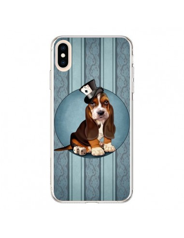 Coque iPhone XS Max Chien Dog Jeu Poket Cartes - Maryline Cazenave
