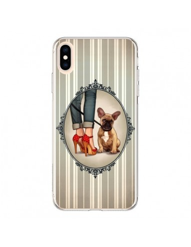 Coque iPhone XS Max Lady Jambes Chien Dog - Maryline Cazenave