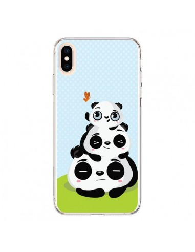 Coque iPhone XS Max Panda Famille - Maria Jose Da Luz