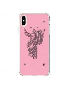 Coque iPhone XS Max God Pink Drake Chanteur Jeu Cartes - Mikadololo