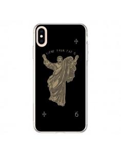 Coque iPhone XS Max God Black Drake Chanteur Jeu Cartes - Mikadololo