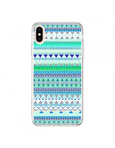 Coque iPhone XS Max Chenoa Bleu Azteque - Monica Martinez