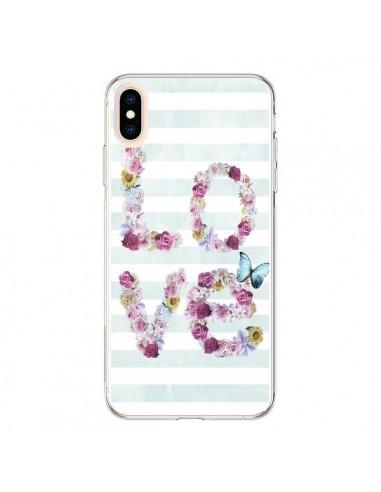 Coque iPhone XS Max Love Fleurs Flower - Monica Martinez