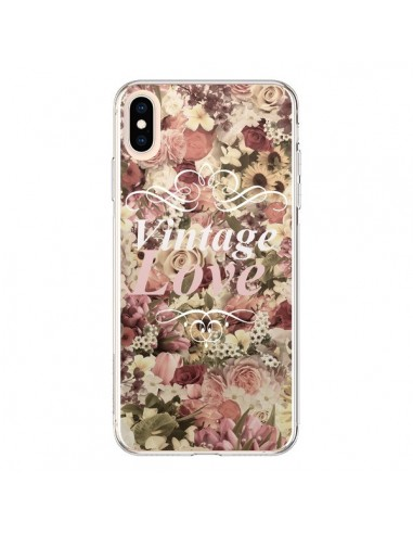 Coque iPhone XS Max Vintage Love Flower - Monica Martinez