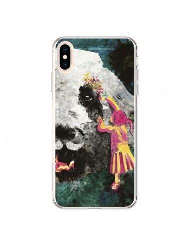 Coque iPhone XS Max Panda Pandamonium - Maximilian San