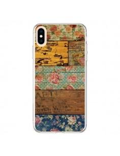 Coque iPhone XS Max Barocco Style Bois - Maximilian San
