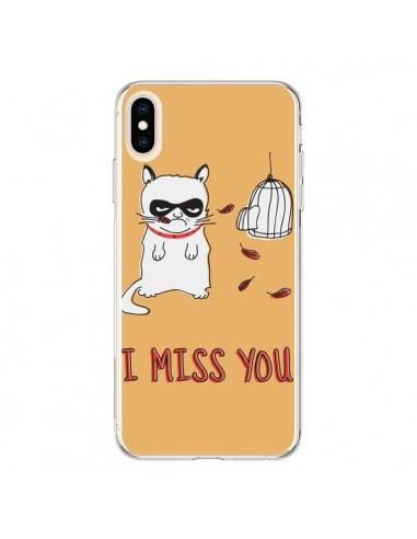 Coque iPhone XS Max Chat I Miss You - Maximilian San