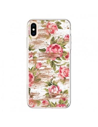 Coque iPhone XS Max Eco Love Pattern Bois Fleur - Maximilian San