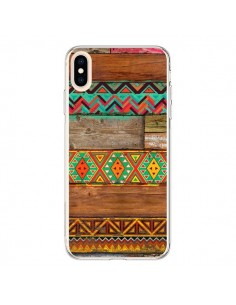 Coque iPhone XS Max Indian Wood Bois Azteque - Maximilian San