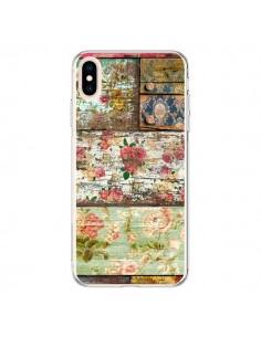 Coque iPhone XS Max Lady Rococo Bois Fleur - Maximilian San