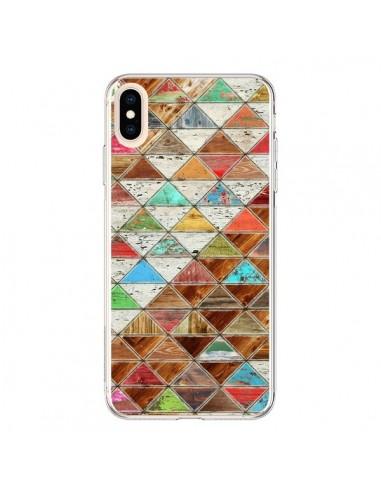 Coque iPhone XS Max Love Pattern Triangle - Maximilian San