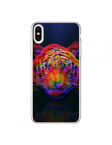 Coque iPhone XS Max Tigre Beautiful Aberration - Maximilian San