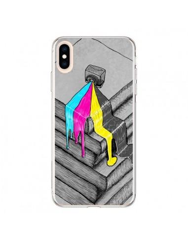 Coque iPhone XS Max Appareil Photo Bleeding Words - Maximilian San