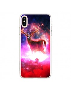 Coque iPhone XS Max Cosmic Deer Cerf Galaxy - Maximilian San