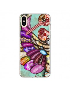 Coque iPhone XS Max Paon Multicolore Eco Bird - Maximilian San