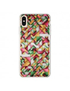 Coque iPhone XS Max Azteque Triangle Geometric World - Maximilian San