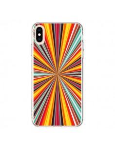 Coque iPhone XS Max Horizon Bandes Multicolores - Maximilian San