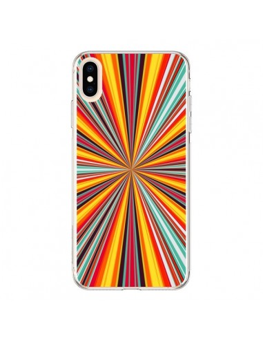 Coque iPhone XS Max Horizon Bandes Multicolores - Maximilian San