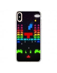 Coque iPhone XS Max Invatris Space Invaders Tetris Jeu - Maximilian San