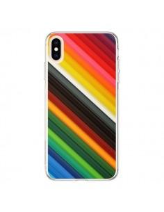 Coque iPhone XS Max Arc en Ciel Rainbow - Maximilian San