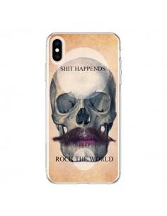 Coque iPhone XS Max Rock Skull Tête de Mort - Maximilian San