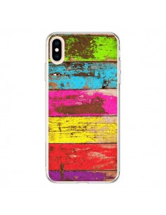 Coque iPhone XS Max Bois Coloré Vintage - Maximilian San
