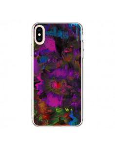 Coque iPhone XS Max Fleurs Lysergic Lujan - Maximilian San