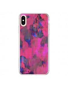 Coque iPhone XS Max Fleurs Rose Lysergic Pink - Maximilian San