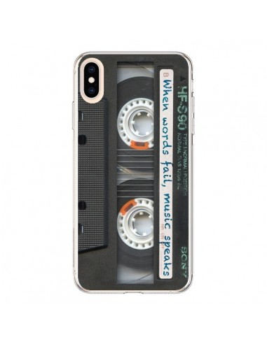 Coque iPhone XS Max Cassette Words K7 - Maximilian San