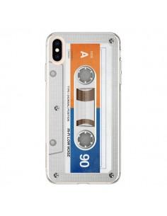 Coque iPhone XS Max White Cassette K7 - Maximilian San