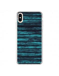 Coque iPhone XS Max Blue Moon Wood Bois - Maximilian San