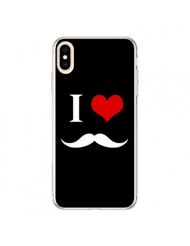 Coque iPhone XS Max I Love Moustache - Nico