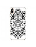 Coque iPhone XS Max Mandala Noir Azteque - Nico