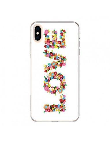 Coque iPhone XS Max Love Fleurs - Nico