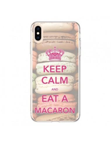 Coque iPhone XS Max Keep Calm and Eat A Macaron - Nico