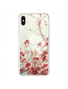 Coque iPhone XS Max Fleur Vintage Rose - Nico