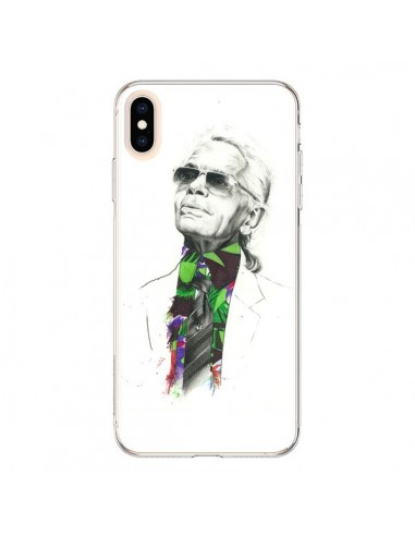 Coque iPhone XS Max Karl Lagerfeld Fashion Mode Designer - Percy