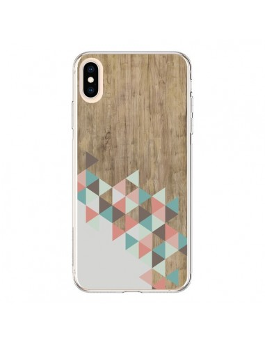 Coque iPhone XS Max Wood Bois Azteque Triangles Archiwoo - Pura Vida