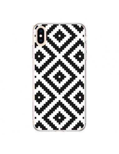 Coque iPhone XS Max Diamond Chevron Black and White - Pura Vida