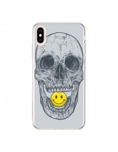 Coque iPhone XS Max Smiley Face Tête de Mort - Rachel Caldwell