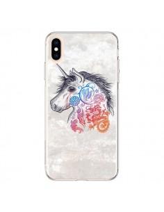 Coque iPhone XS Max Licorne Muticolore - Rachel Caldwell
