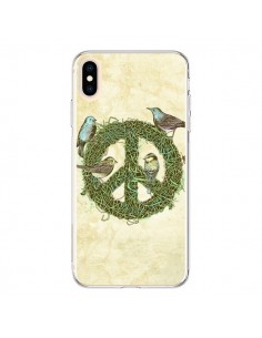 Coque iPhone XS Max Peace And Love Nature Oiseaux - Rachel Caldwell