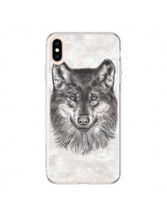 Coque iPhone XS Max Loup Gris - Rachel Caldwell