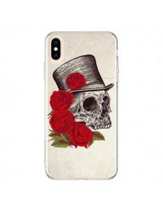 Coque iPhone XS Max Gentleman Crane Tête de Mort - Rachel Caldwell