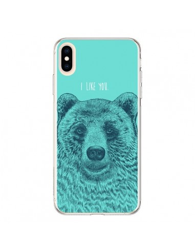 Coque iPhone XS Max Bear Ours I like You - Rachel Caldwell