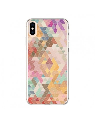 Coque iPhone XS Max Azteque Pattern Triangles - Rachel Caldwell