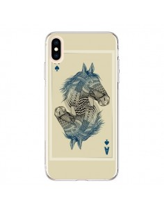 Coque iPhone XS Max Cheval Carte Jeu Horse As - Rachel Caldwell