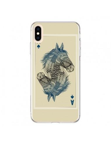 Coque iPhone XS Max Cheval Carte Jeu Horse As - Rachel Caldwell