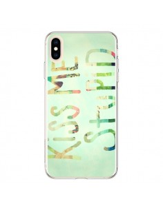 Coque iPhone XS Max Kiss Me Stupid - R Delean